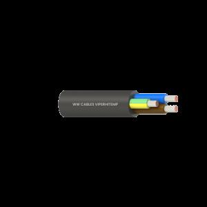 6C+E 1.5mm2 TC CL5/Silicone Rubber/Silicone Rubber 300/500V Black